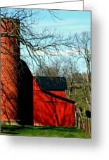 Barn Shadows Greeting Card