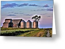 Barn Silos Greeting Card