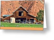 Barn Ten Sleep Wyoming Greeting Card