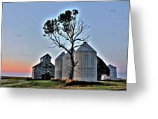 Barn Tree Greeting Card
