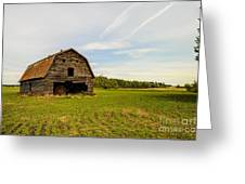 Barn On The Field Greeting Card