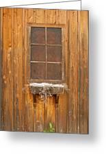 Barn Window 3348 Greeting Card