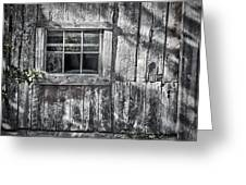 Barn Window Greeting Card