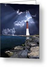 Barnegat Inlet Lighthouse Nj Greeting Card