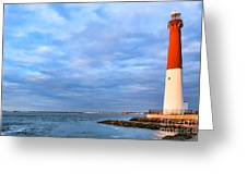 Barnegat Lighthouse Greeting Card by Olivier Le Queinec