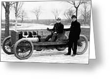 Barney Oldfield And Henry Ford Greeting Card
