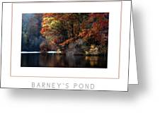 Barney's Pond Poster Greeting Card