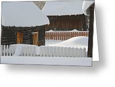Barns And Fences Greeting Card