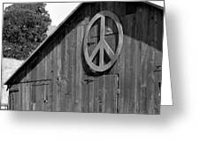 Barns For Peace Greeting Card