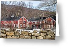 Barns In Winter Greeting Card