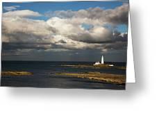 Barns Ness Lighthouse  East Lothian Greeting Card