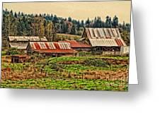 Barns On A Farm Greeting Card