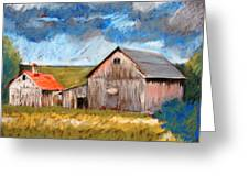 Barns On Maple Street Greeting Card