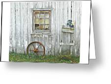 Barnwood Decor Greeting Card by Dianne  Lacourciere
