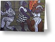 Barnyard Trance Dancers Greeting Card