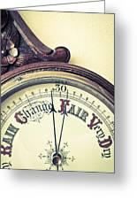 Barometer Greeting Card by Tom Gowanlock