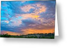 Barossa Valley Sunset Greeting Card