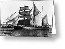 Barquentine, 1871 Greeting Card
