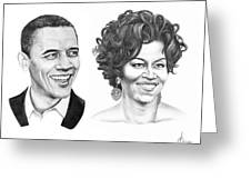 Barrack And Michelle Obama Greeting Card