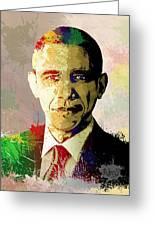 Barrack Obama Greeting Card