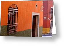 Barred Window, Mexico Greeting Card