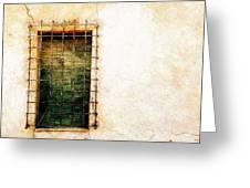 Barred Window Greeting Card