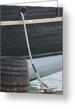 Barrel And Ship Greeting Card