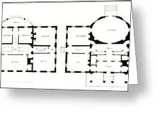 Barrel House Floor Plan In Landscape Greeting Card