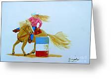 Barrel Racer Greeting Card