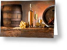 Barrels Grapes Greeting Card