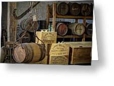 Barrels Greeting Card by James Barber