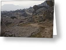 Barren Landscape South Of Qobustan Greeting Card