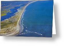 Barrier Island Aerial Greeting Card