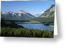 Barrier Lake Greeting Card