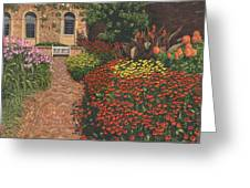 Barrington Court Gardens Somerset Greeting Card