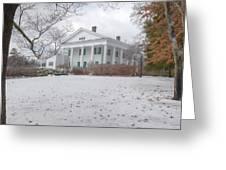 Barrington Hall In The Snow Greeting Card