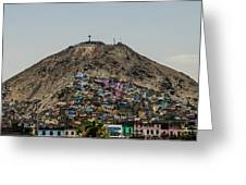 Barrio In Lima Greeting Card