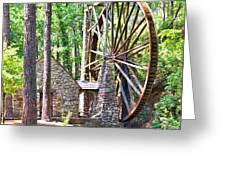Berry College's Old Mill - Square Greeting Card