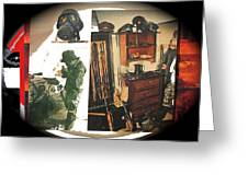 Barry Sadler And Part Of His Weapon's  Nazi Memorabilia Collection Collage Tucson Arizona 1971-2013 Greeting Card