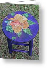 Barstool Hibiscus Greeting Card