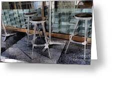 Barstools - Before The Night Begins Greeting Card