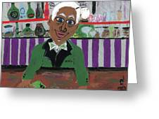 Bartender At The Country Club Greeting Card