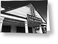 Barthel Store Greeting Card by Scott Pellegrin