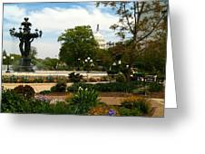 Bartholdi Fountain Greeting Card