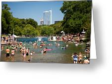 Barton Springs Pool Greeting Card