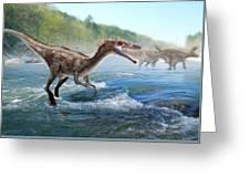 Baryonyx Dinosaur Greeting Card