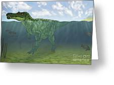 Baryonyx Swimming Amongst Some Greeting Card