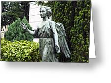 Barzaghi Memorial Side View II Detail Monumental Cemetery Greeting Card