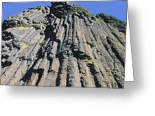 M-a5607-basalt Columns On Pilot Rock Greeting Card