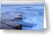 Basalt Rock, Berwick Upon Tweed Greeting Card